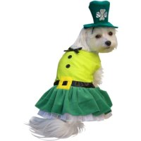 Leprechaun Girl Dog Halloween Costume (X Small) Clothing