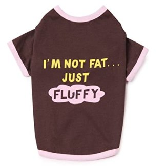 Dog T-shirts: I'm Not Fat Just Fluffy