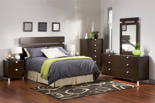 Image of Kids Bedroom Furniture Set 2 in Chocolate - South Shore Furniture - 3259-BSET-2 (3259-BSET-2)