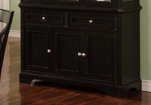 Image of Contemporary Black Finish Dining Room Sideboard Server (VF_AZ00-28194x29036)