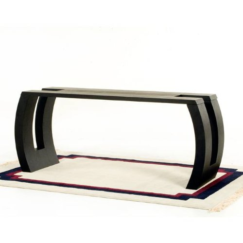 Image of Diamond Sofa Low Profile Rectangle Console Table with Hand Carved Detail (S0611)