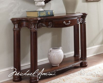 Image of Monte Carlo II Cafe Noir Console Table - Aico N53223-46 (N53223-46)