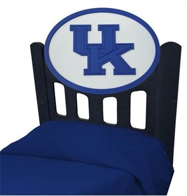 Image of Kentucky Wildcats UK Kids Wooden Twin Headboard With Logo (C0526S-Kentucky)