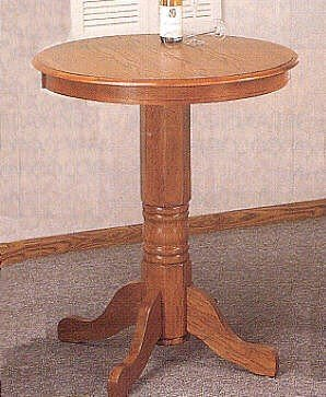 Buy low price country style solid oak wood round kitchen for Solid wood round kitchen table