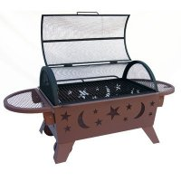Steel Wood & Charcoal Fire Pit   Best Prices