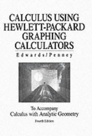 Using Hewlett-Packard Graphing Calculators Manual for Calculus