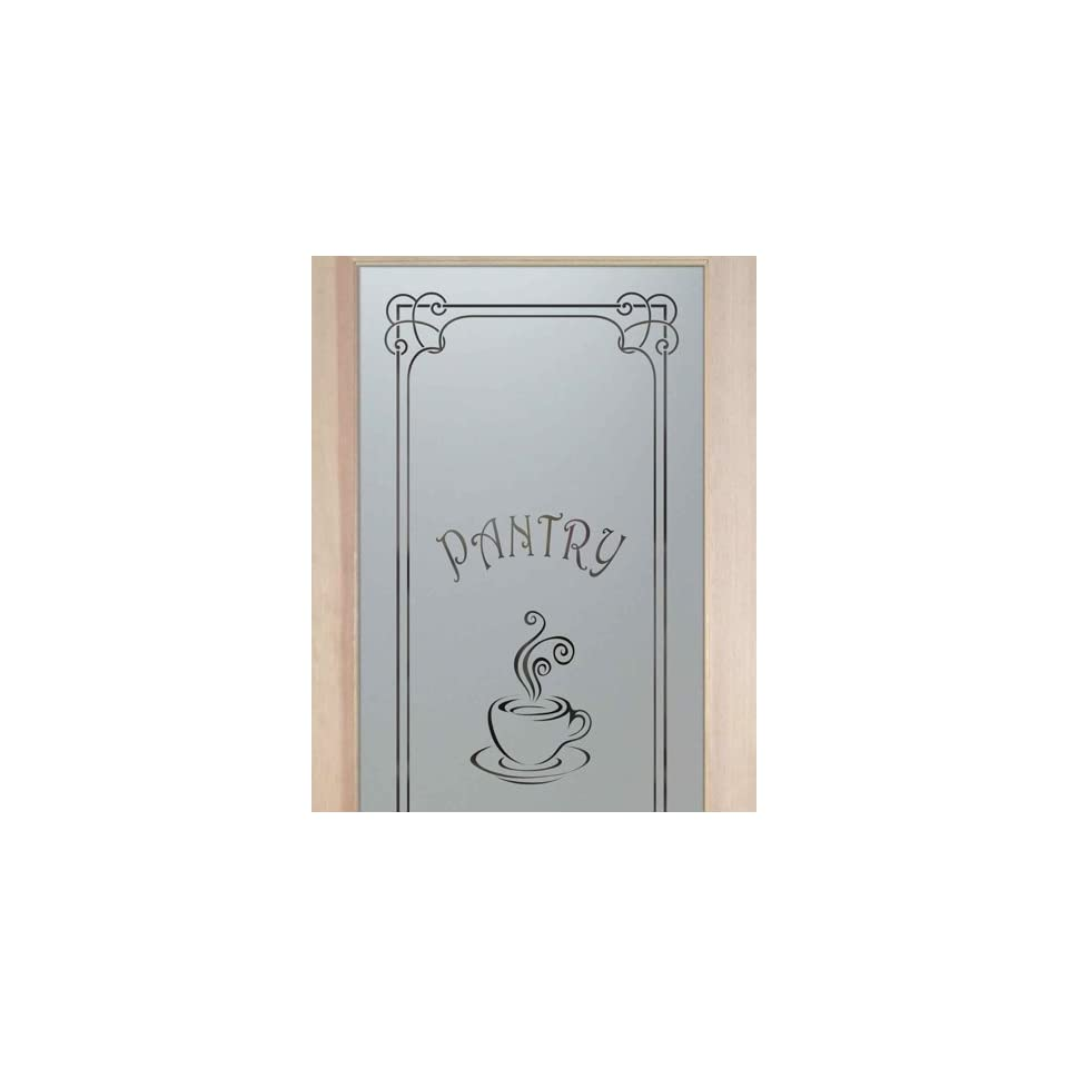 Pantry doors 2 0 x 6 8 1 lite french etched glass door frosted