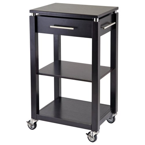 Image of Linea Kitchen Cart with Chrome Accent (w92718qq)