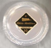 "#CHEAP 9"" Clear Plastic Plates 12/40 480csKITCHEN ..."