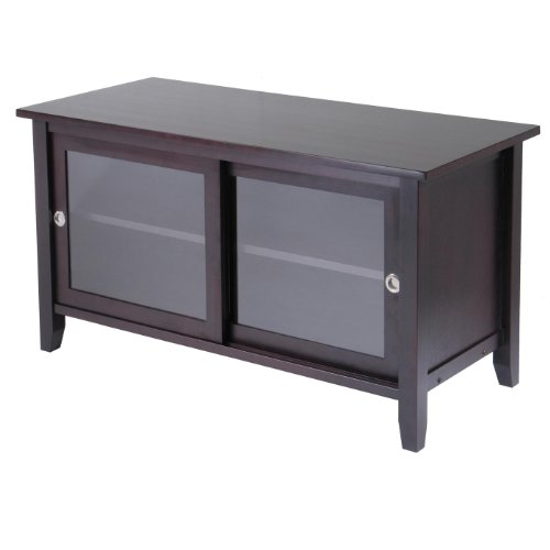 Image of TV Media Stand with sliding doors (92044A)
