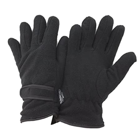 Quality womens fleece gloves with Thermal Warmth Thinsulate lining. Adjustable velcro strap. Fiber contents for outer 100% Polyester, inner 65% Polypropylene and 35% Polyester.