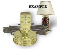 Mason Jar Lamp Kit converts a Standard Mason   Candle ...
