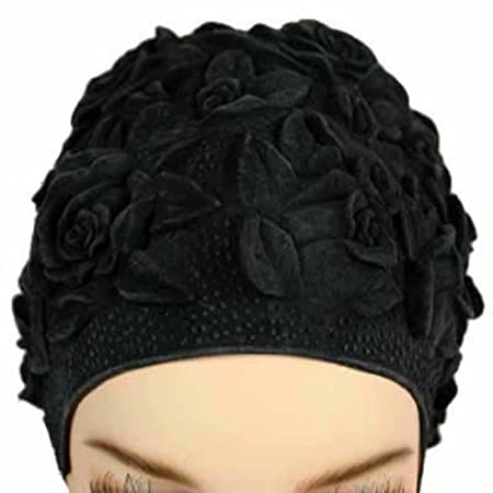 Channels of puffed floral embossing make this swim cap stand out from the rest. Cap is soft and rubbery.Stretchy and able to fit many sized heads.Can also be used as a shower/bathing cap.Great to protect color treated hair from damaging sun rays and ...