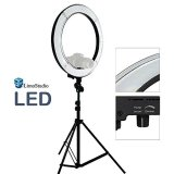 LimoStudio-LED-18-Ring-Flash-Light-Dimmable-SMD-LED-Lighting-Kit-5500K-Photography-Photo-Studio-Light-Stands-AGG1775