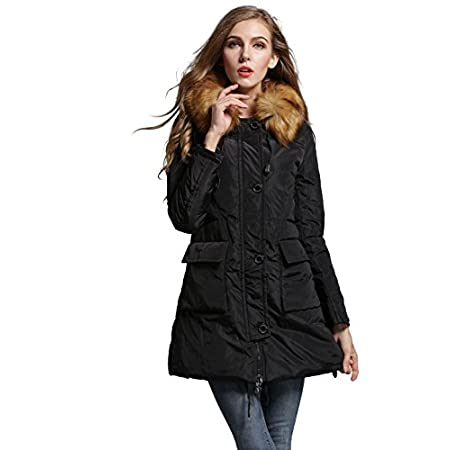 Neri is filling the white duck down 90% + 10% of feathers Duck down processing is very good, no smell. Light warm light long down jacket. Unprecedented light cutting in feeling and spell able, You can also show the fashionable breath in the cold wint...