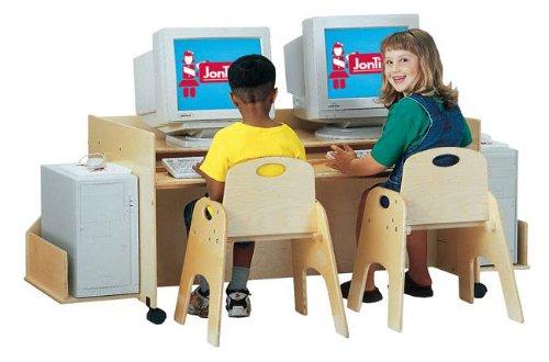 Picture of Comfortable KYDZ COMPUTER DESK - DOUBLE - NAVY (B001EJGPKA) (Computer Desks)