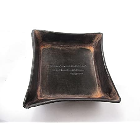 """This black leather desk tray with the inscription, """"Whatever our souls are made of, his and mine are the same"""" by Emily Bronte, is a beautiful and thoughtful gift for a 3rd anniversary or someone special. Each tray is hand cut, molded, dyed and embos..."""