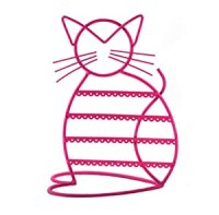 Amazon.com: Cat Shape Metal Wire Earring Holder / Earring ...