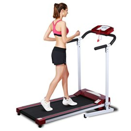 Ancheer-Folding-Treadmill-Electric-Exercise-Running-Machine-with-LED-Monitor-Red