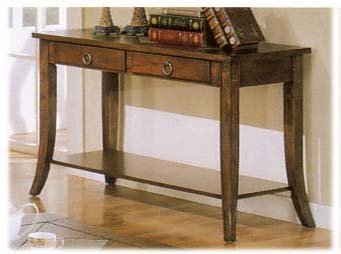 Image of SLATE INLAYED TOP CONSOLE/SOFA TABLE W DRAWERS AND MORE (B000JI4LQW)