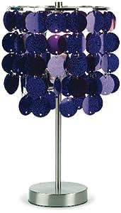 Amazon.com - Three Cheers Purple Paillette Table Lamp ...