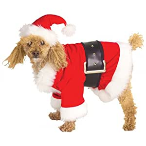Amazon.com : Santa Claus Dog Costume