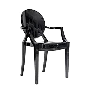 Amazoncom Kardiel Philippe Style Ghost Arm Chair Black