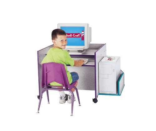 Picture of Comfortable Kydz Computer Desk - Single - Orange - School & Play Furniture (B002LTDBOA) (Computer Desks)
