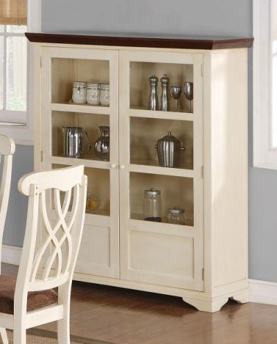 Image of Addison Collection Buttermilk Cherry Dining Curio Cabinet (B008A1C162)