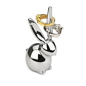 Amazon.com: Umbra Zoola Bunny Ring Holder, Chrome: Home