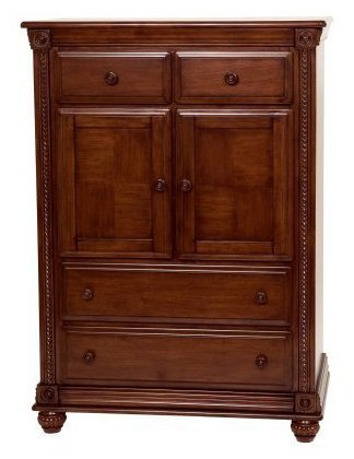 Image of Simmons Kids Furniture Mendocino Chiffrobe Dresser, Deep River Cherry (258050-28)