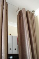 Fasthomegoods Curtain Wire Rod Set Stainless Steel Multi Purpose