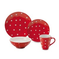 Maxwell and Williams Sprinkle 4-Piece Place Setting, Red ...