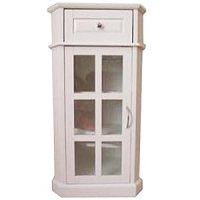 GLAZE - Bathroom Glass Door Storage Cabinet - White ...