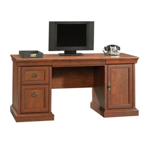Picture of Comfortable Executive Computer Credenza Desk - Coach Cherry Finish (B004QER00E) (Computer Desks)