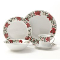 Gibson Poinsettia Holiday Dinnerware Set -Piece ...