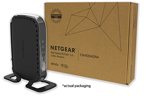 NETGEAR CM400 (8x4) Cable Modem DOCSIS 3.0 Certified for Comcast XFINITY, Time Warner Cable, Cox, Charter & more (CM400-1AZNAS)