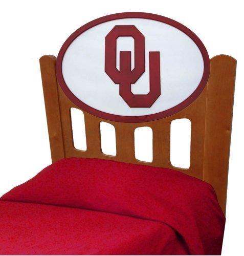 Image of University of Oklahoma Sooners Kids Wooden Twin Headboard With Logo (C0526S-Oklahoma)