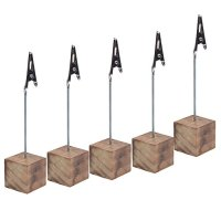 Cosmos 5 Pcs Lightweight Cube Base Memo Clips Holder with ...