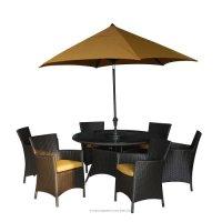Kontiki Patio Furniture - The Ritz Sunbrella Series Dining ...