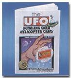 Houdini Magic UFO Whirling Card Magic Trick and Book Set