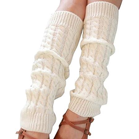 Women's Winter Knit Crochet Leg Warmers Leggings