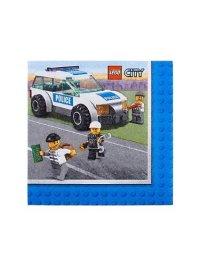 Lego City Police Beverage Napkins (16) Birthday Party ...