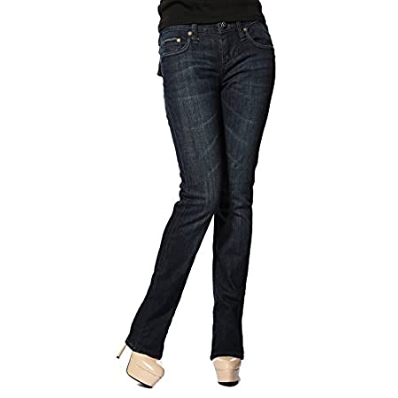These slim fit jeans from Stitch's are specially designed to highlight your leg length and curves. The denim stretches great to fit your unique curves, creating a more balanced appearance of your body. The designed embellishment completes a vintage-i...