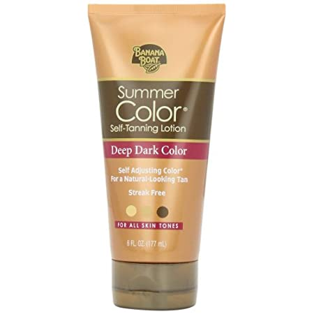 Summer Color lets you control the shade of your tan. This quick-drying sunless tanning lotion from Banana Boat allows you to get the deepest, richest tan that is achievable with your skin tone. The more often you apply it, the deeper your tan becomes...