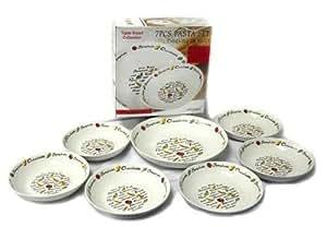 7 Piece Italian Style Pasta Bowl Set