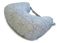 Boppy Two-Sided Breastfeeding Pillow, Kensington/Gray Baby ...