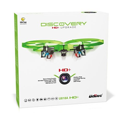 UDI-818A-HD-Upgrade-RC-Quadcopter-Drone-with-Camera-720p-HD-Headless-Mode-and-Return-Home-Function-Do-360-Flips-BONUS-BATTERY-Doubles-Flying-Time-USA-Toyz-Exclusive