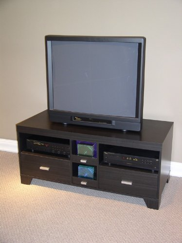 Image of Large Tv Stand In Black Finish (4dcon-24706) From 4d Concepts (AZ00-30246x7876)
