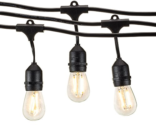 Outdoor String Lights With Led S14 Bulbs By Deneve